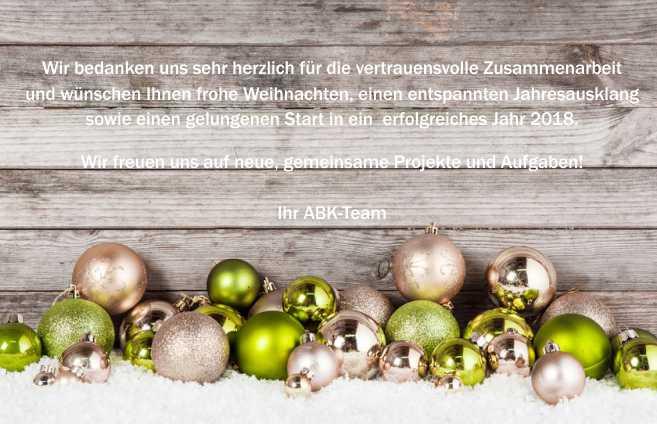 ABK wünscht Frohe Weihnachten